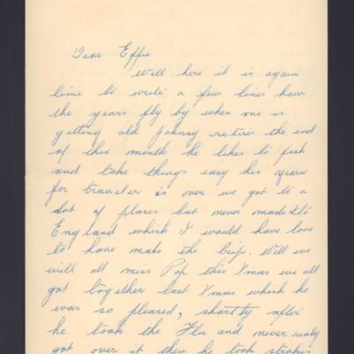 Letter to Effie from Jessie